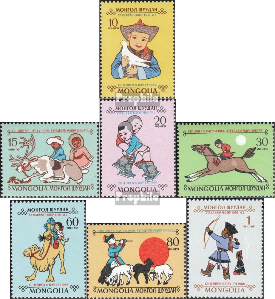Prophila Collection Mongolei 445-451 Briefmarken f/ür Sammler kompl.Ausg. 1966 Tag des Kindes